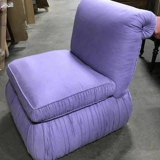 Vintage Lavender Pouf Cushioned Chair Vintage pouf
