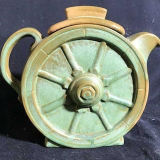 FRANKOMA Signed Ceramic Tea Pot Vintage FRANKOMA Signed