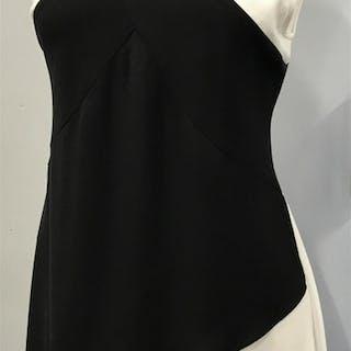 Sleeveless X Pattern Blouse BCBG MAX AZRIA Black and