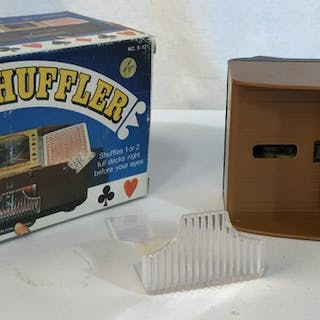 Vintage automatic card shuffler battery operated Slide