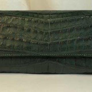 DIANE B MILANO Italian Alligator Skin Clutch Purse