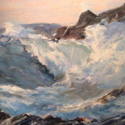 Signed K. Baxter Oil on Canvas, Seascape