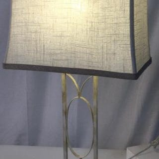 Retro Metal Lamp With Contemporary Shade