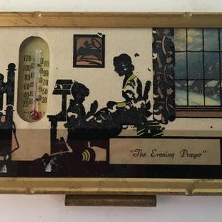 Vintage thermometer with calendar 1941