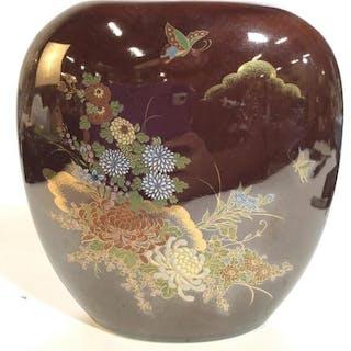 Japanese Porcelain Wide Set Vase