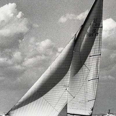 Framed Poster Print Of Boat in America's Cup