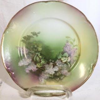 German Floral Detailed Porcelain Plate