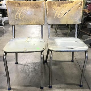 Pair Vintage Retro Dining Chairs