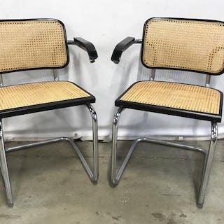 Set 4 Marcel Breuer Cesca Cane Chrome Style Chairs