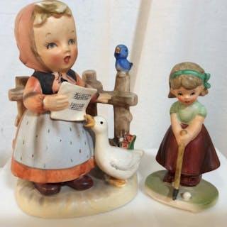 Lot 2 Hummel Style Ceramic Figurines