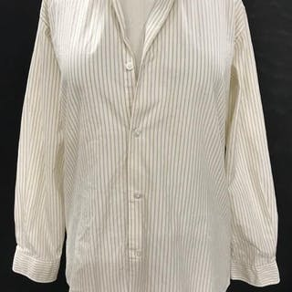 HERMÈS PARIS Striped Buttoned Cotton Shirt