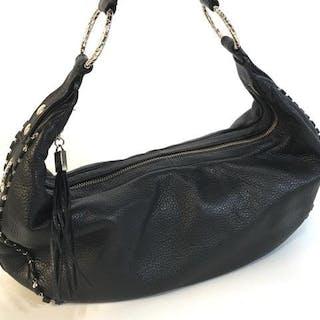 ELLIOTT LUCCA Black Leather Shoulder Bag