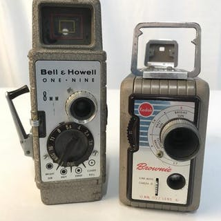 Lot 2 Brownie And Ben & Howell 8 MM Cameras