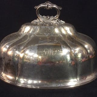 Victorian Style Silver Plate Food Cover Dome