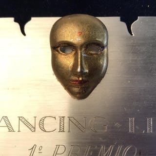 Collectible 'Carnevale Premio' Plaque 800 Silver