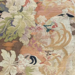 Antique Handmade Floral Detailed Tapestry