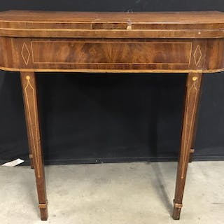 Antique Federal Style Flip Top Console Game Table