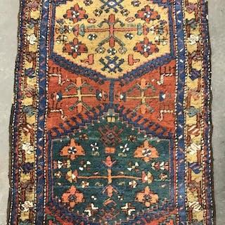 Antique Handmade Wool Carpet Runner