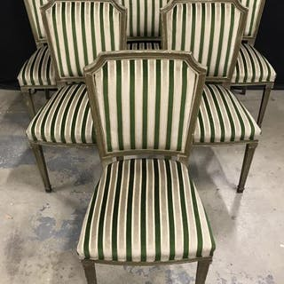 Set 6 C1920 French Art Deco Style Chairs