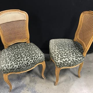 Pair Vintage Louis XV Style Side Chairs