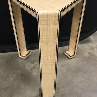 Karl Springer Style Side Table