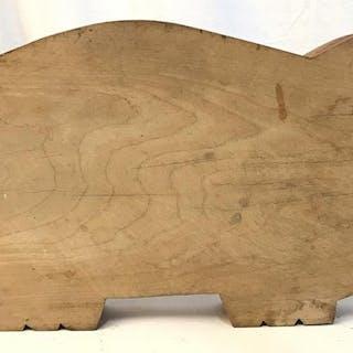 Vintage Pig Form Cutting Board