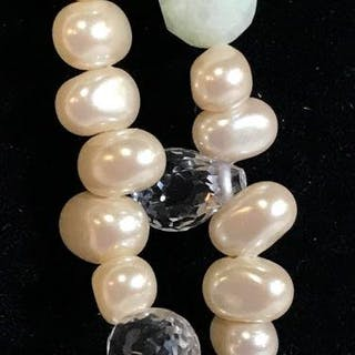 Freshwater Pearl CAROLEE Double Strand Necklace