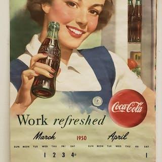1950 Coca Cola Pinup Girl Calendar – Current sales