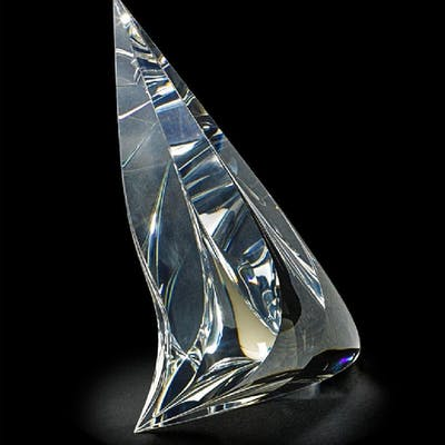 CHRISTOPHER RIES (b. 1952) Carved crystal sculpture