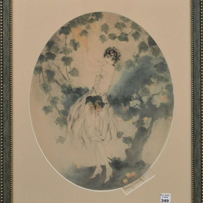 Louis Icart (French 1888-1950), drypoint etching, young