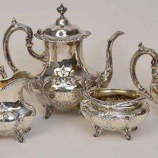 Sterling Silver Reed & Barton Burgundy Pattern Tea set