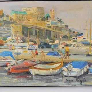 Irene Pages (FRENCH, 1934) oil on canvas, Monte Carlo
