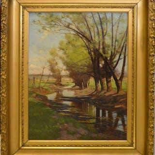 Frank Charles Peyraud (AMERICAN, 1858–1948) Oil on