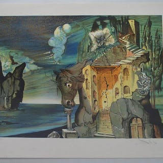 Salvador Dali Lithograph - Tristan Fou, signed lower