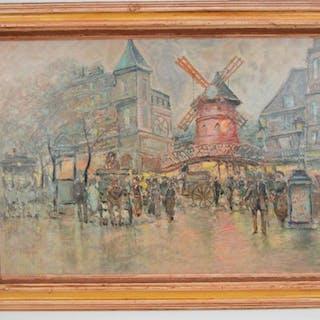 Dutch School 20th Century, oil on canvas, Town Scene