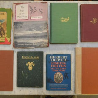 "8 Books, assorted Gaming & Fishing, incl; (1) ""First"