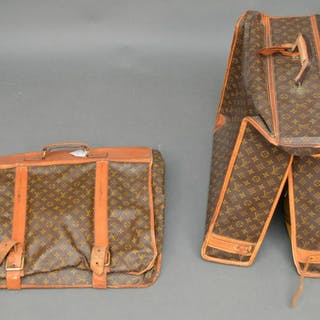 2 Vintage Louis Vuitton garment bags (edges worn)