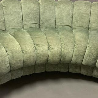 DESEDE NON STOP SOFA the light green fabric is in good