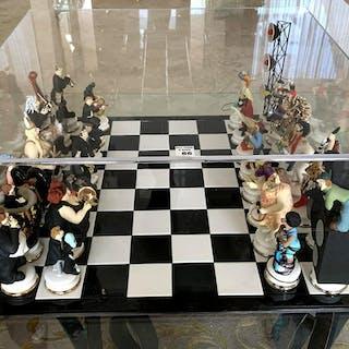 "DOUG ANDERSON ( American b. 1957 ) Ceramic Chess Set """