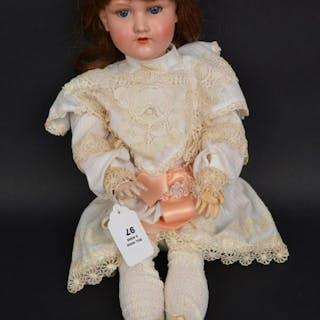 German doll, bisque head, impressed Armand Marsaille