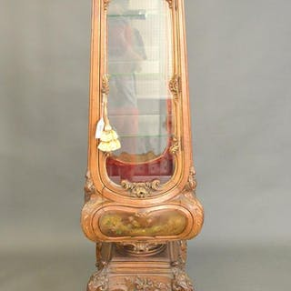 Louis XV style carved, polychromed and parcel gilded