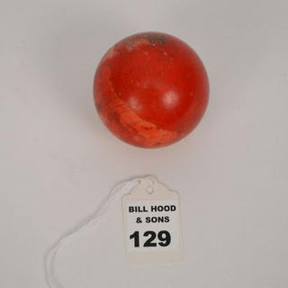 """CARVED ANTIQUE Q BALL Height 2 1/4"""" Condition: no"""