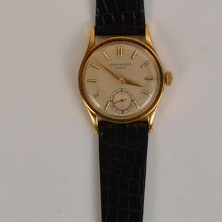 Patek Philippe 4k Yellow Gold watch leather band. 8.5""
