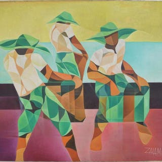 Oscar Zalameda (FILIPINO, 1930–2010) oil on canvas, 3