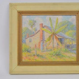 Albert Van Nesse Greene (American 1887 - 1971) oil on