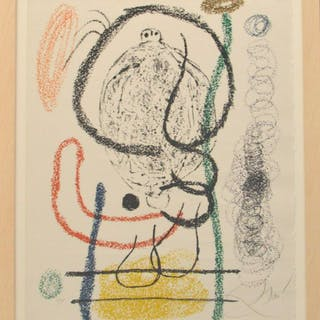 Joan Miró (1893-1983) colored lithograph on Arches