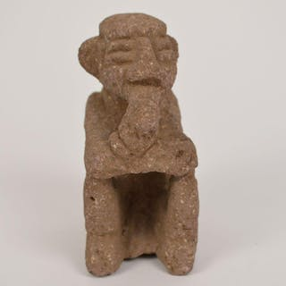 Pre-Columbian Costa Rican Basalt Stone Carving. Height