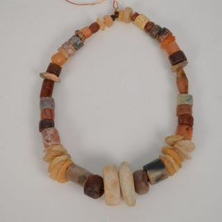 "Ancient Sahara Bead Necklace on a Copper Wear 18"" Good"