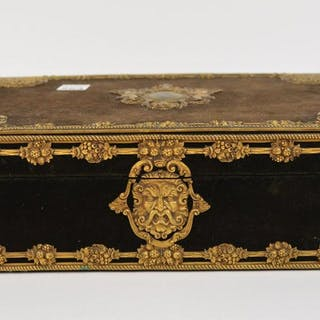 Carved Box with gilt metal accents