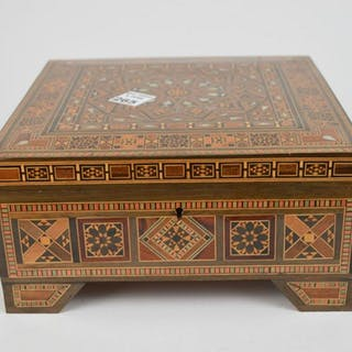 Carved Inlaid Anglo-Indian Box